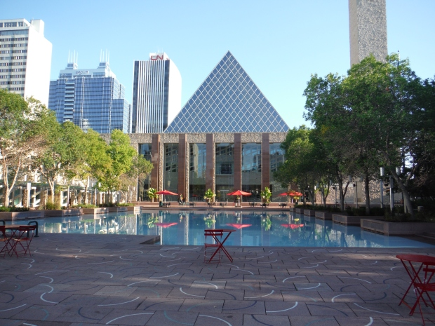 The Edmonton City Hall, right in the centre of the Arts District